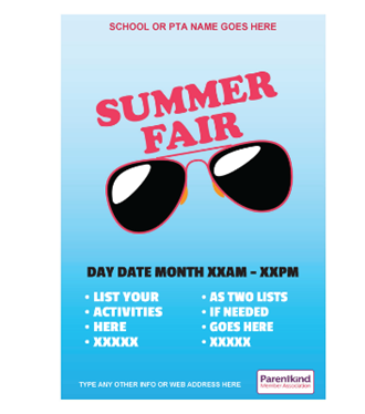 Summer Fair poster sunglasses