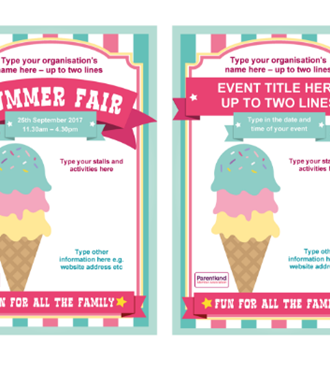 Summer Fair poster ice cream