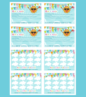 Summer fair prize card template