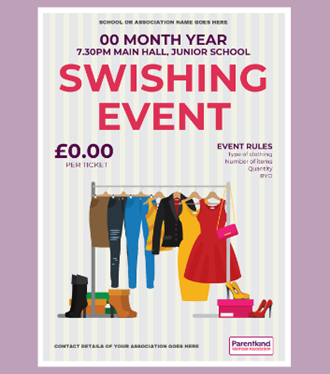 Swishing event poster