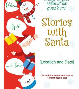 stories with santa poster