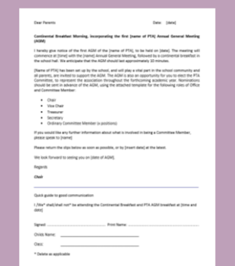 Invitation to AGM template