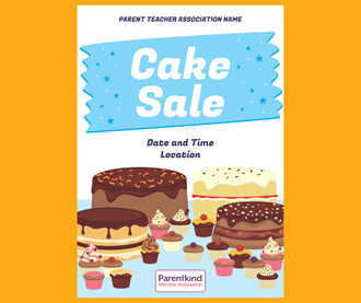 Cake sale poster