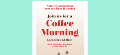 Parentkind coffee morning poster template