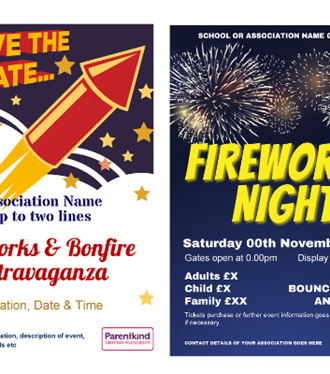 PTA Fireworks posters