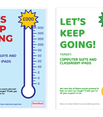Fundraising thermometer posters