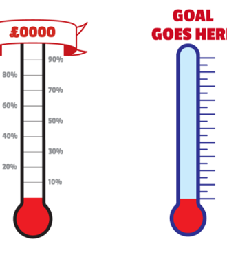 Fundraising thermometer templates