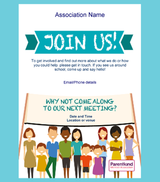 Join us poster template
