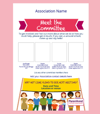 Meet the committee flyer