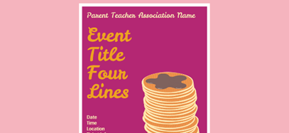 Pancake event poster