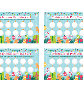 Christmas Fair prize card template
