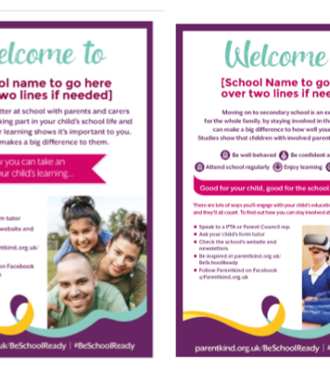 Secondary Be School Ready poster and flyer