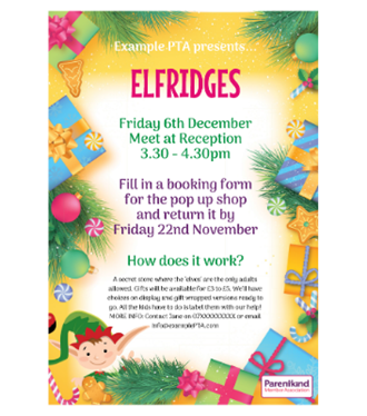 Elfridges poster template