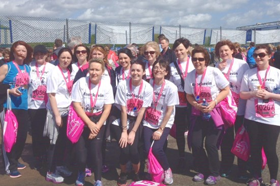 Volunteers setting out on the Belfast Eight Mile Walk in aid of Knockevin Special School's Sparkle Project
